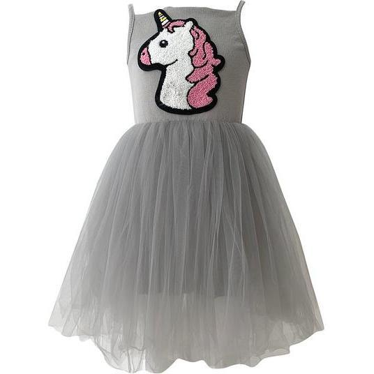 Unicorn Princess Tutu Dress, Grey