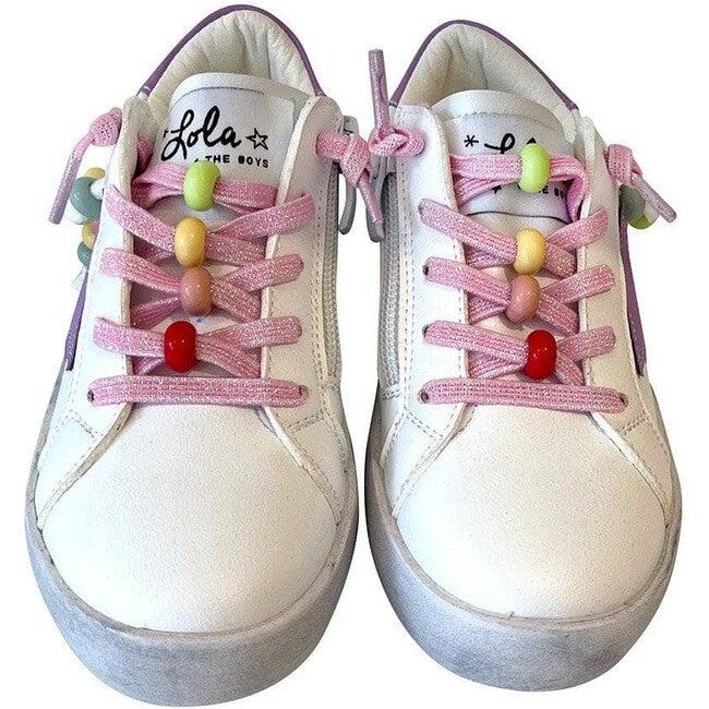 Star Girl Rainbow Beaded Sneaker, Purple