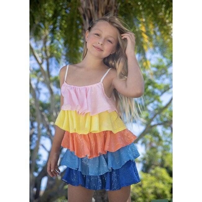 Shimmer Sequin Tier Dress, Multi