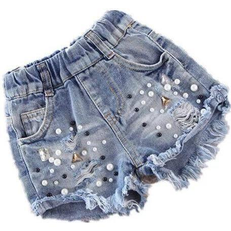 Rockstar Studded Denim Short, Blue