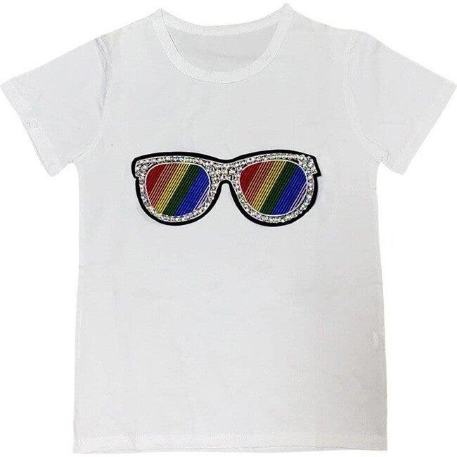 Rainbow Sunnies Tee, White