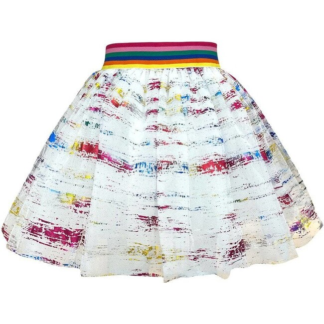 Rainbow Metallic Foil Tutu, Multi