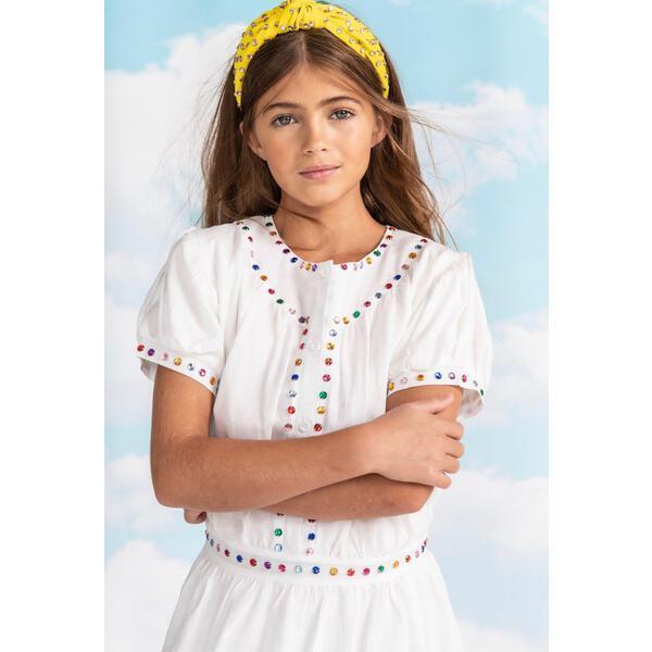 Rainbow Jewel Dress, White