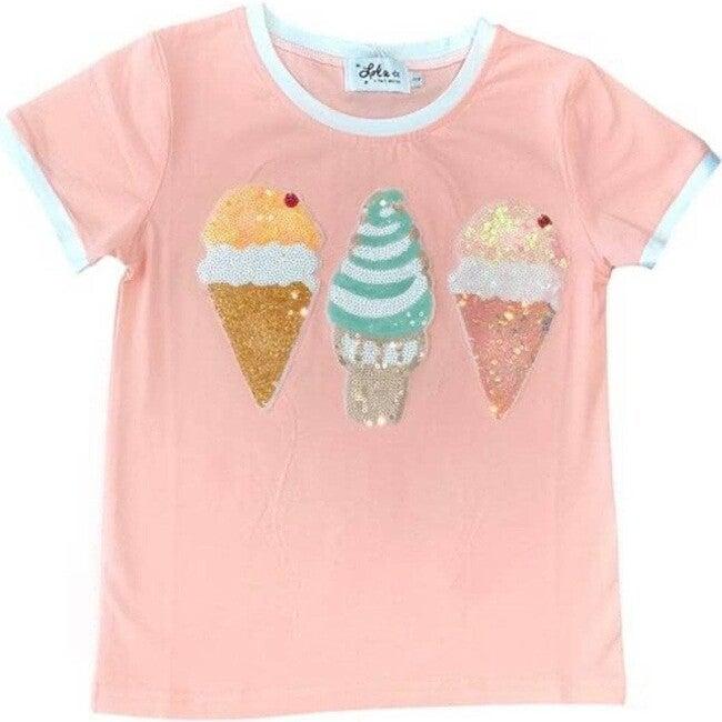 Peachy Ice Cream Ringer T-shirt, Orange