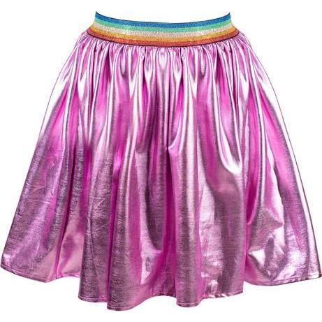 Magenta Rainbow Foil Skirt, Pink