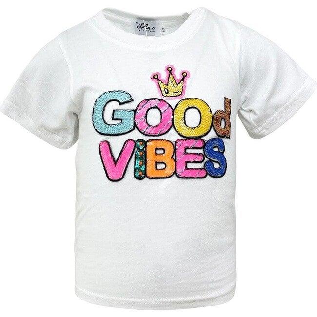 Good Vibes Neon Tee, White