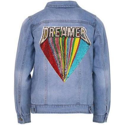 Beaded Dreamer Jacket, Denim