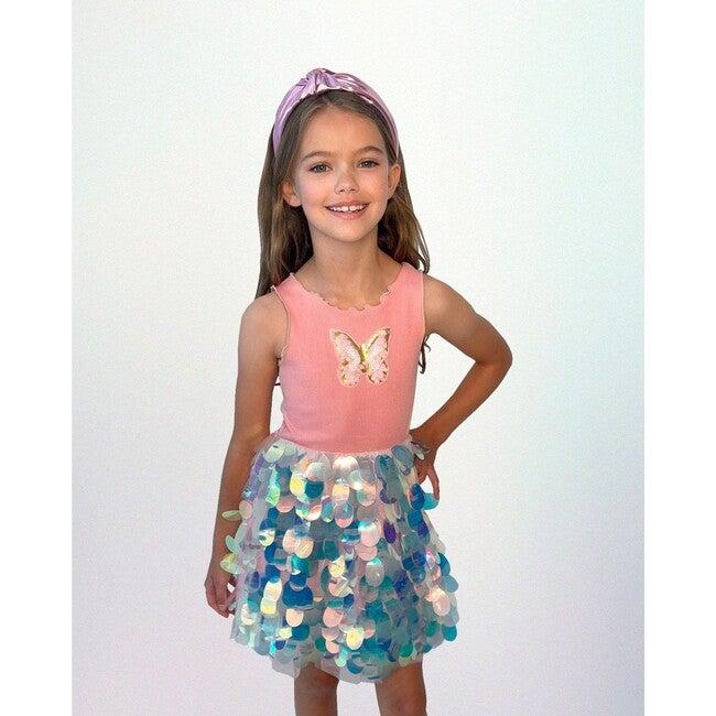 Butterfly Paillete Dress, Pink