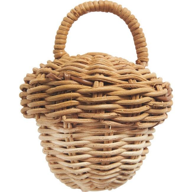Acorn Rattan Rattle, Natural