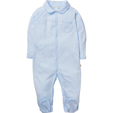 Angel Wing Sleepsuit With Mittens in Blue