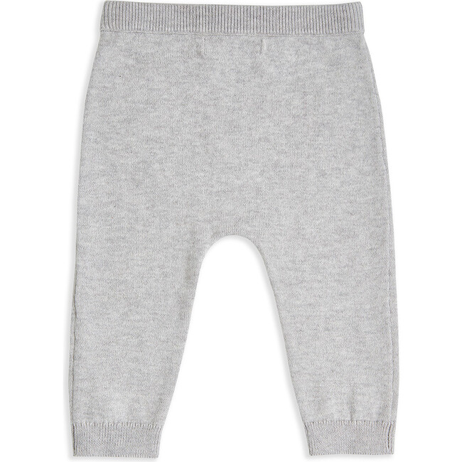 Pointelle Star Crawler Set in Grey