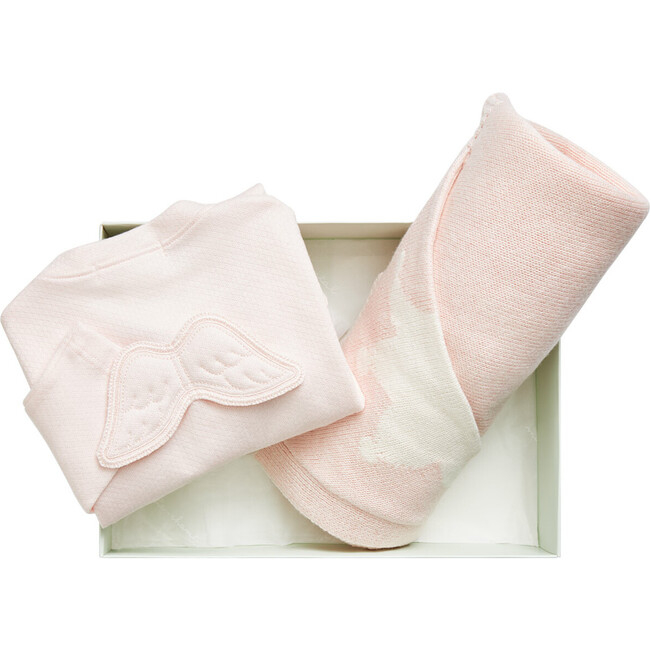 Wing and Crown Gift Set in Pink