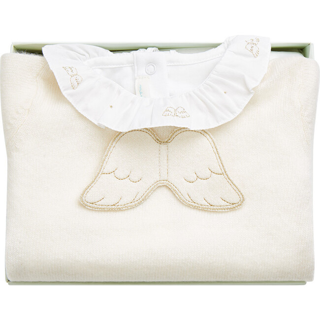 The Signature Angel Wing Gift Set in Cream/Gold