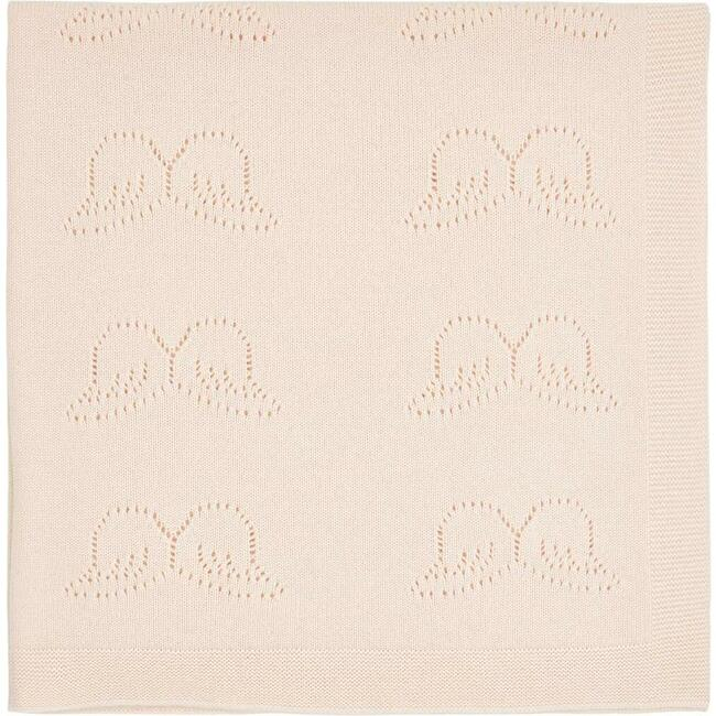 Angel Wing Pointelle Cashmere Blanket in Pink