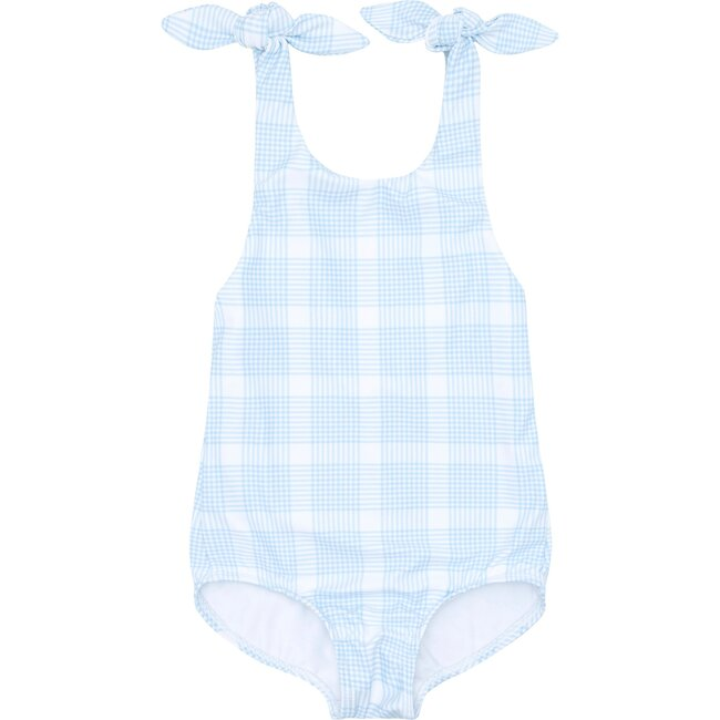Girl's Sunwashed Double Bow One Piece