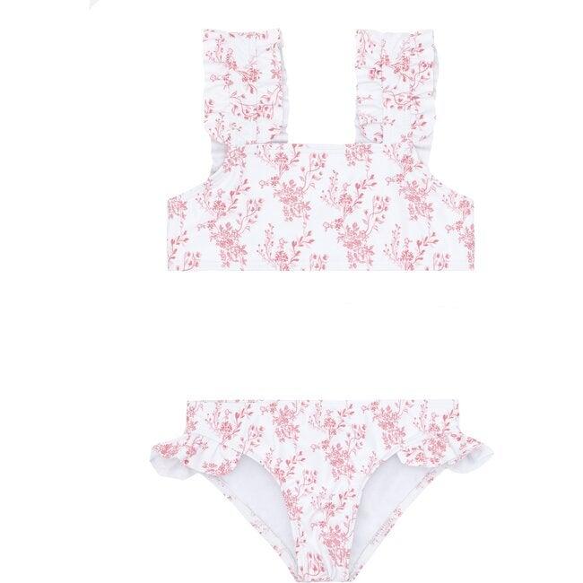 Girl's Nantucket Floral Ruffle Strap Bikini