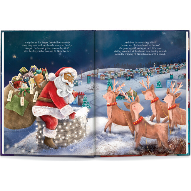Our Family Night Before Christmas, Medium Skin Santa