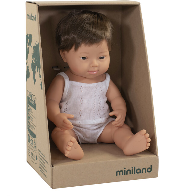 Baby Doll, Caucasian Boy with Down Syndrome