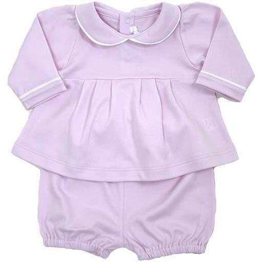 Long Sleeve Swing Top and Short Set, Pink - Mixed Apparel Set - 1