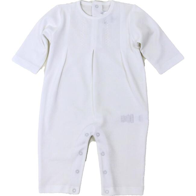 Layette Long One Piece, White - One Pieces - 1