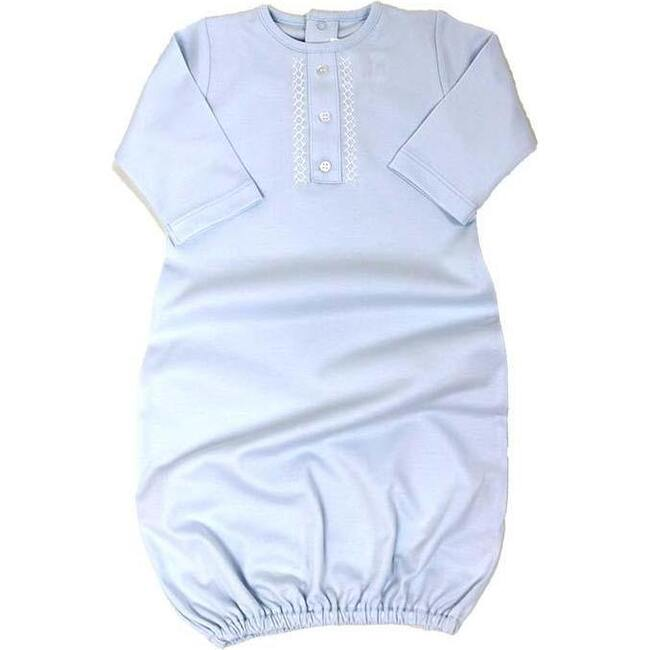 Layette Gown, Light Blue