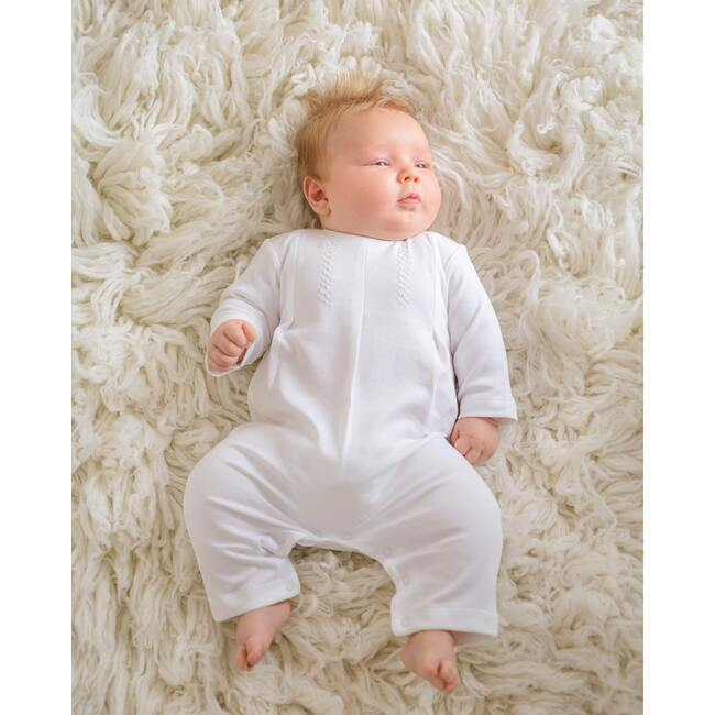 Layette Long One Piece, White