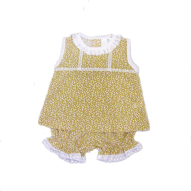 Floral Boho Two Piece, Mustard Floral - Mixed Apparel Set - 1