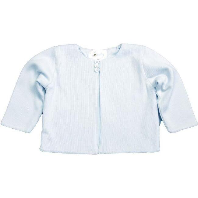 Classic Lined Cardigan, Light Blue
