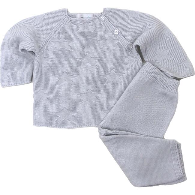 Star Sweater Pant Set, Light Grey