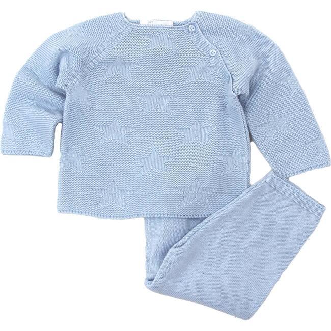 Star Sweater Pant Set, Light Blue