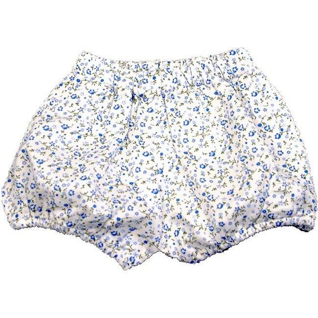 Blue Floral Diaper Cover, Blue Multi