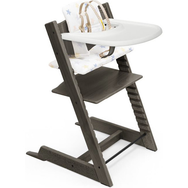 Tripp Trapp® High Chair and Cushion with Stokke® Tray, Grey