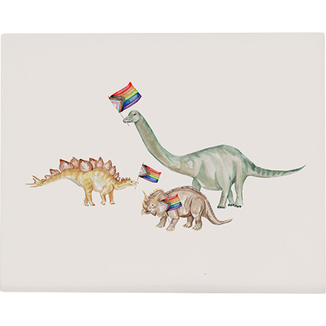 Dino Pride Art Print, Unframed