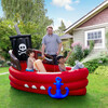 Water Fun Pirate Boat Inflatable Sprinkler Play Center with Pump - Pool Toys - 2
