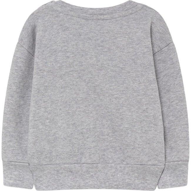 Bear Baby Sweatshirt, Grey Flowers