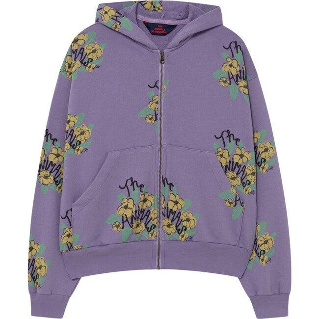 Seahorse Sweatshirt, Purple Flowers