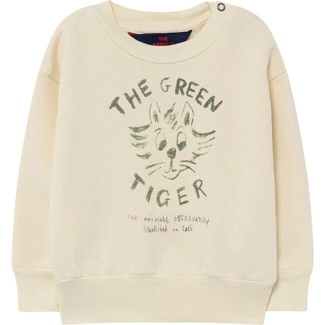 Bear Baby Sweatshirt, White Tiger