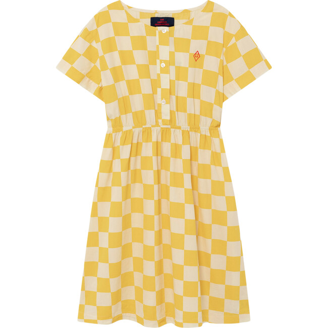 Dolphin Dress, Yellow Check