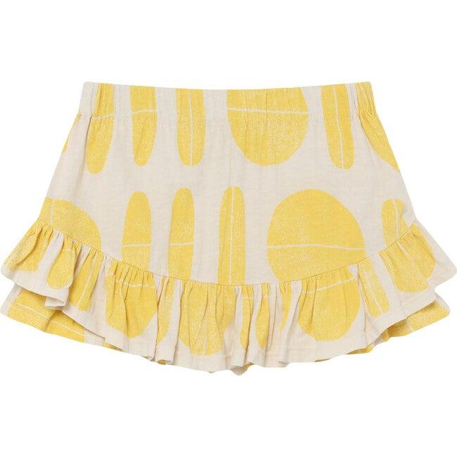 Kiwi Skirt, White Ovals