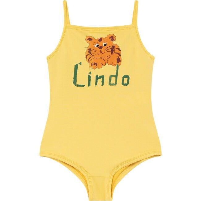Octopus Swimsuit, Yellow Lindo