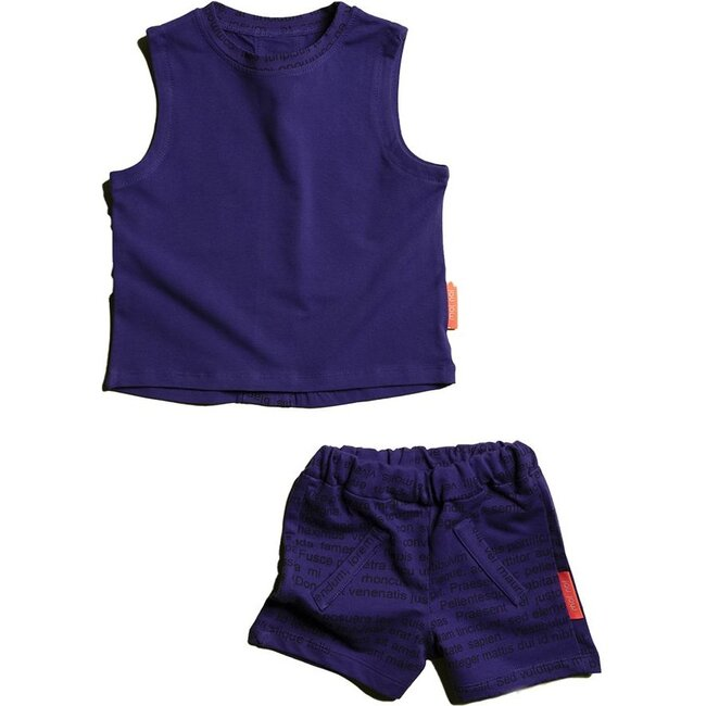 Text Tank Top Outfit, Purple
