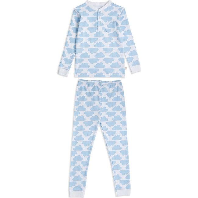 MC Cloud Print Pyjama in Blue - Pajamas - 1