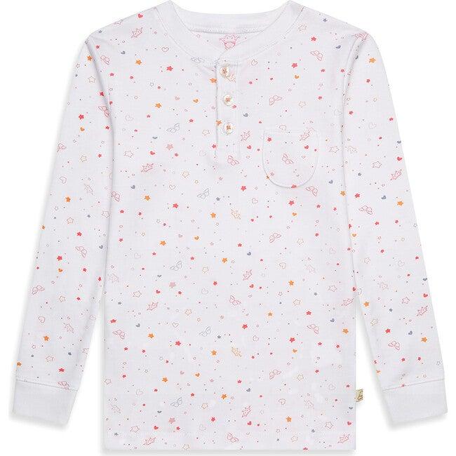 Star & Crown Print Pyjama in Pink