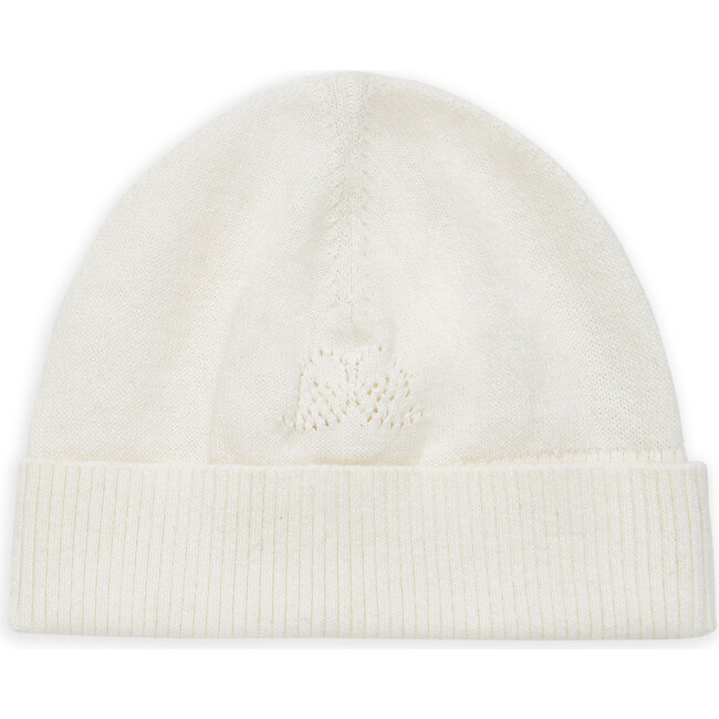 Angel Wing Knitted Hat in Ivory