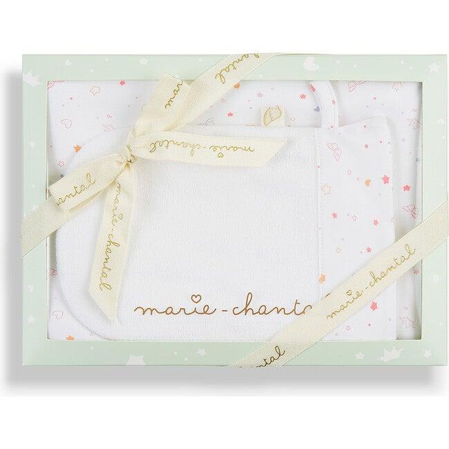 Star & Crown Print Bath Gift Set in Pink