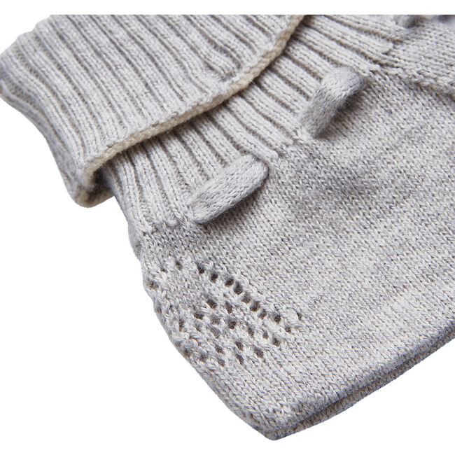 Angel Wing Knitted Booties in Grey