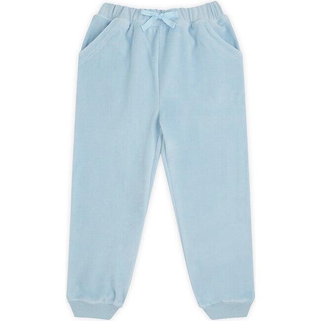 Angel Wing Velour Joggers in Blue - Loungewear - 1