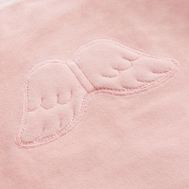 Angel Wing Velour Sweatshirt in Pink