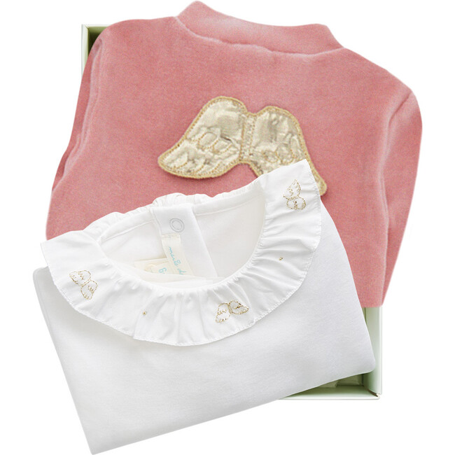Angel Wing Halo Gift Set in Dusty Pink