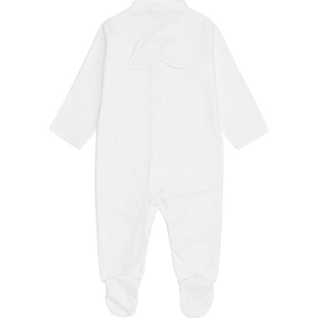 Set of 2 Angel Wing Pointelle Sleepsuits in White